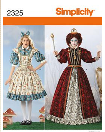 $6.00 sewing patterns for red queen and alice | Alice In ...