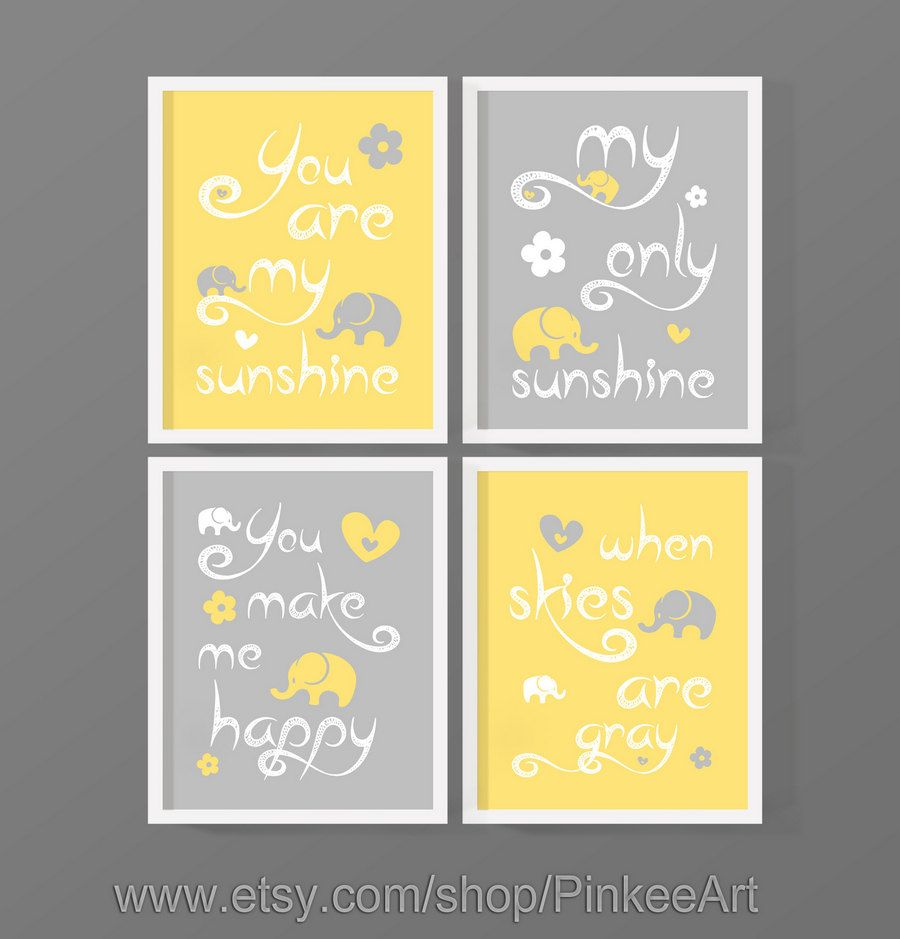 You are my sunshine baby room wall art, you are my sunshine wall art ...