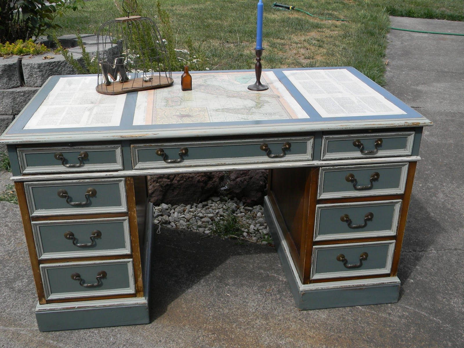 Emily S Up Cycled Furniture Sea Captain S Writing Desk Desk Upcycled Furniture Upcycle Desk