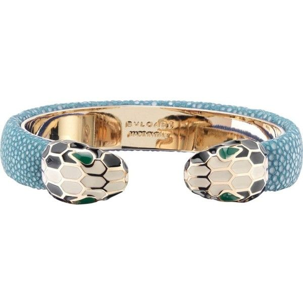 bvlgari serpenti forever 18kt gold plated and leather bracelet 400 liked on polyvore featuring jewelry bracelets teal topaz gold plated ban - Bambou Color