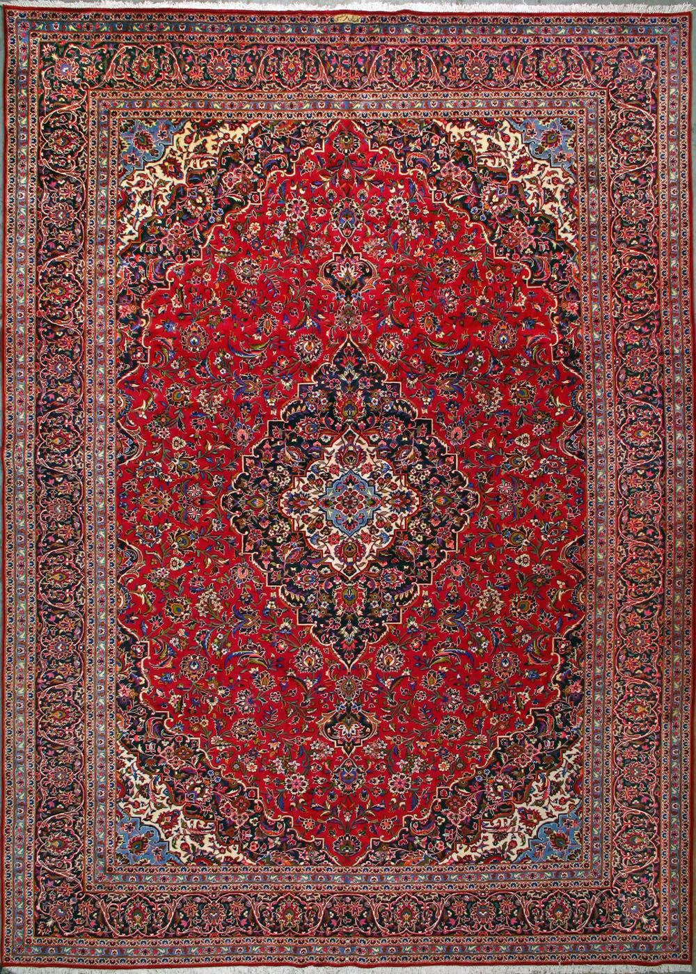 Buy Kashan Persian Rug 11 39 3 Quot X 16 39 1 Quot Authentic Kashan Handmade Rug