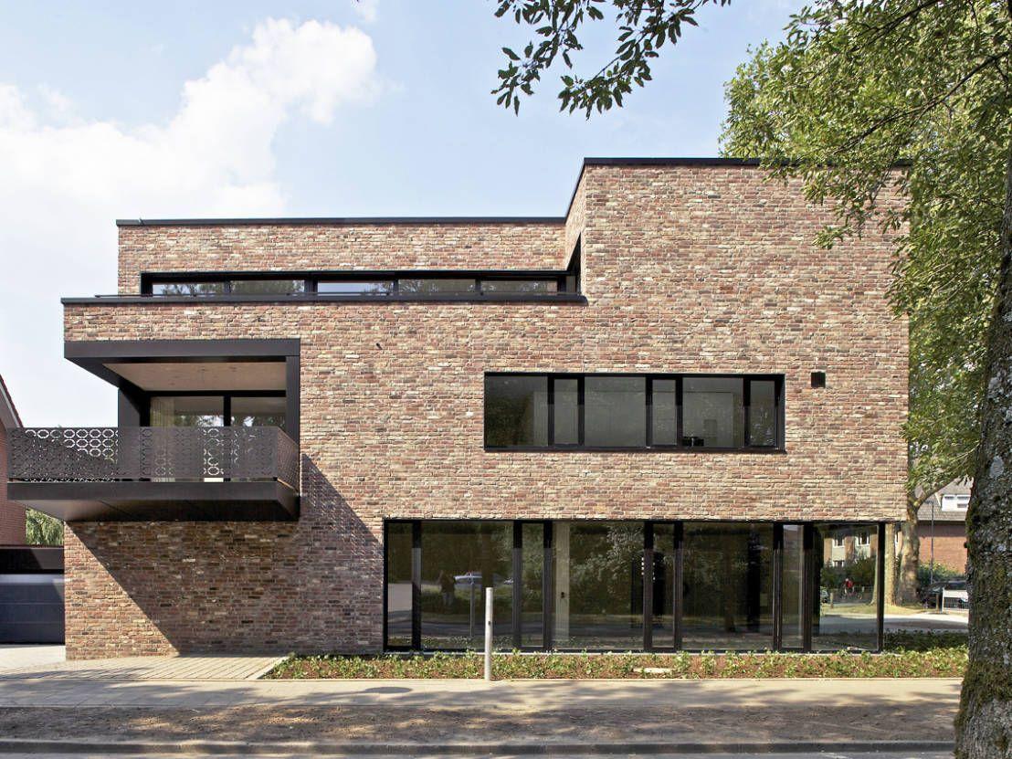 ° modern huis in münster gevelstenen baksteen