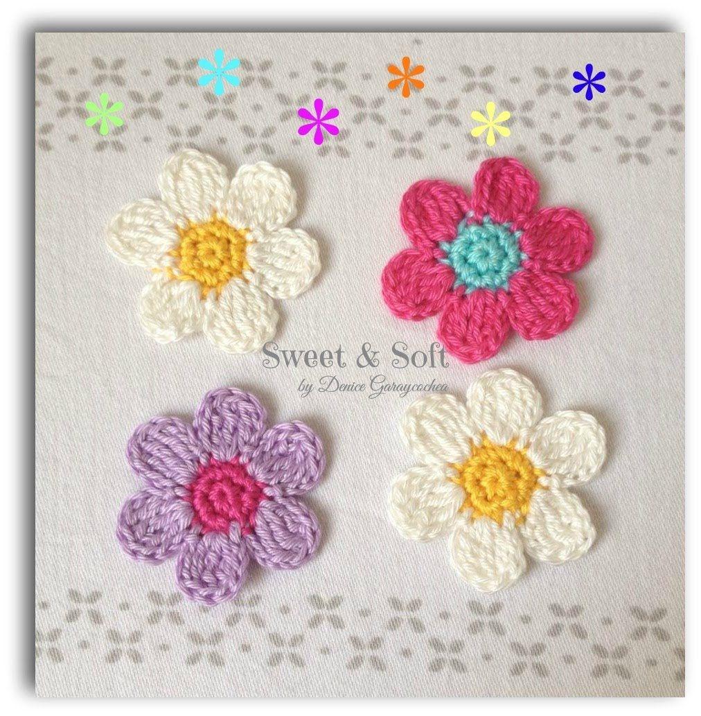 TUTORIAL FLOR A CROCHET I | Crochet MINI CURIOSIDADES | Pinterest ...