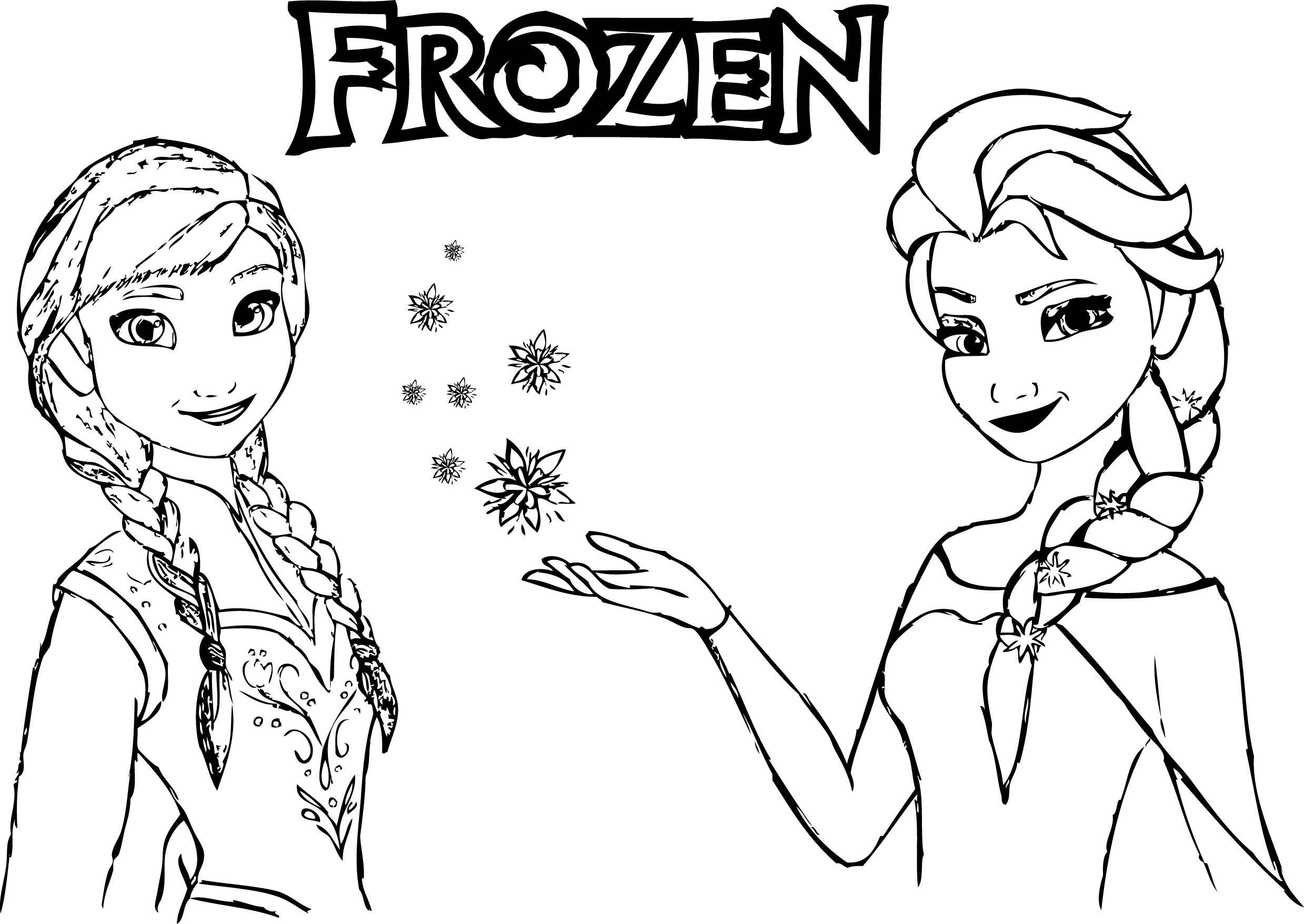 Frozen Anna Elsa Magic Coloring Page Wecoloringpage Pinterest