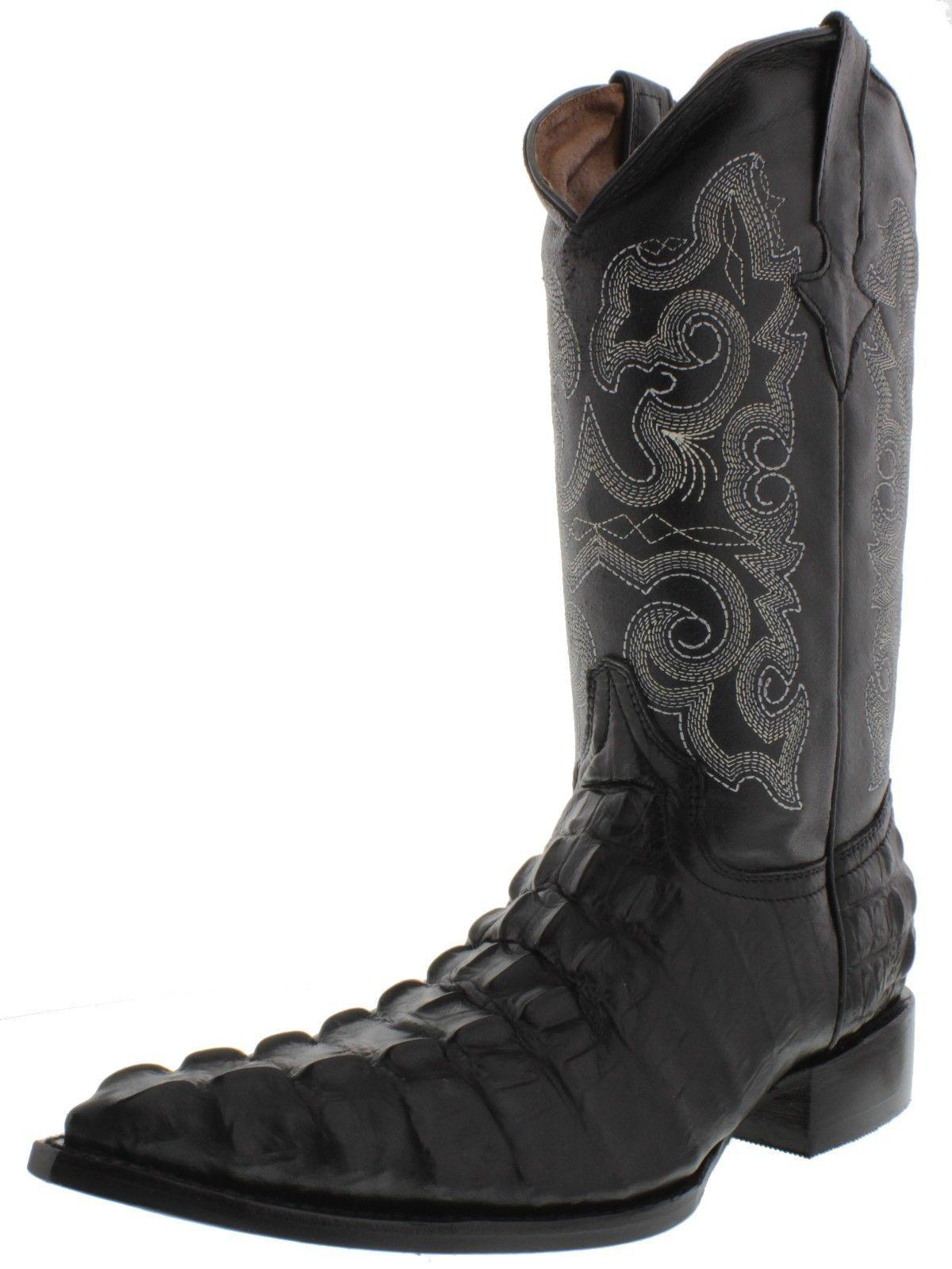 dfae94b2251 Men's cognac brown crocodile alligator leather cowboy boots j toe ...