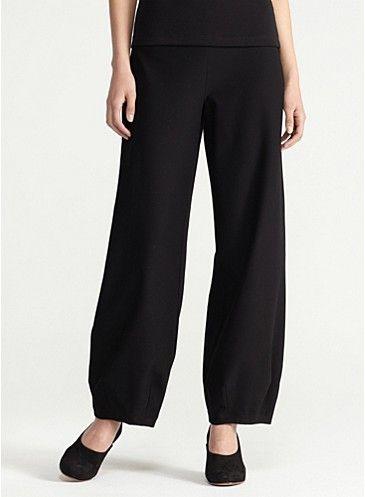 fad08b17878 Eileen Fisher Ankle Lantern Pant in Washable Stretch Crepe