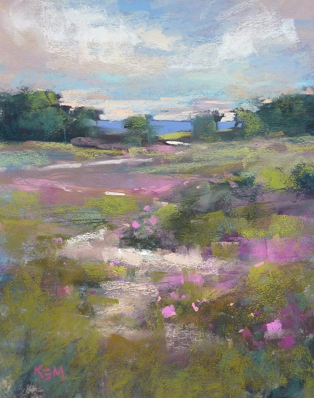 Painting My World A Simple Tip For Saving Money On Pastel Paper Pastel Painting Landscape Paintings Pastel Landscape