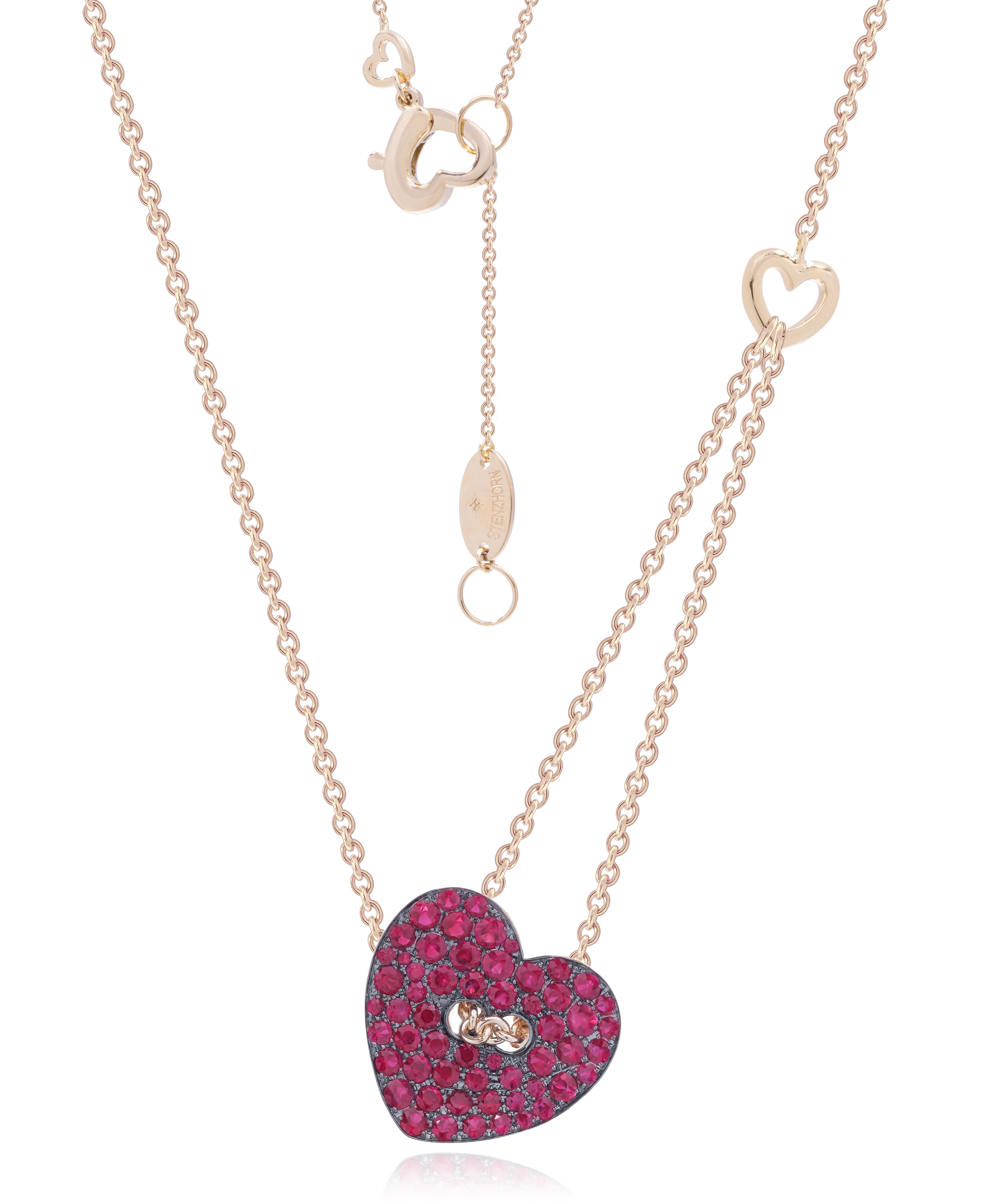 Chain my heart by Stenzhorn. Heart shape shirt button pendant in ...