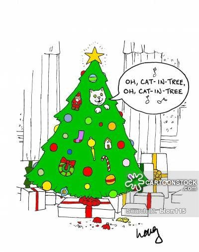 Cats And Christmas Trees Christmas Humor Christmas Cats Christmas