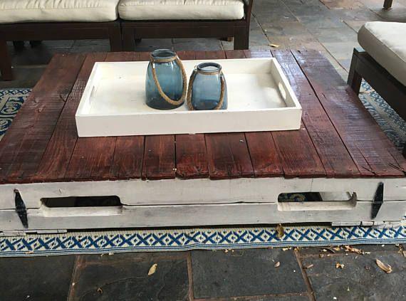 Wood Pallet Coffee Table No Legswheels UNSTAINED Pallet Table - Coffee table no legs