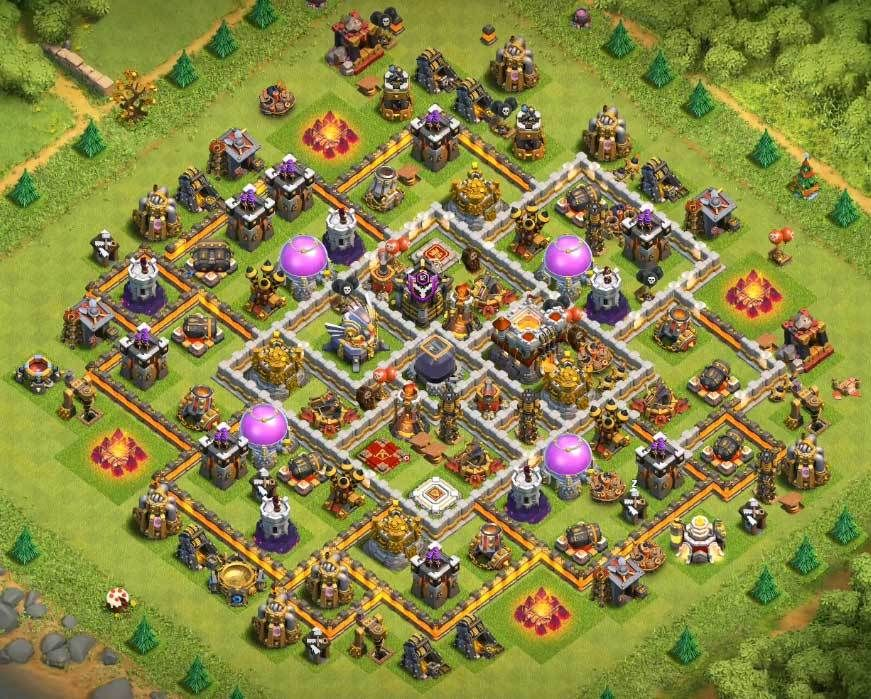 Coc Th 11 Best Defence Base 2019 8