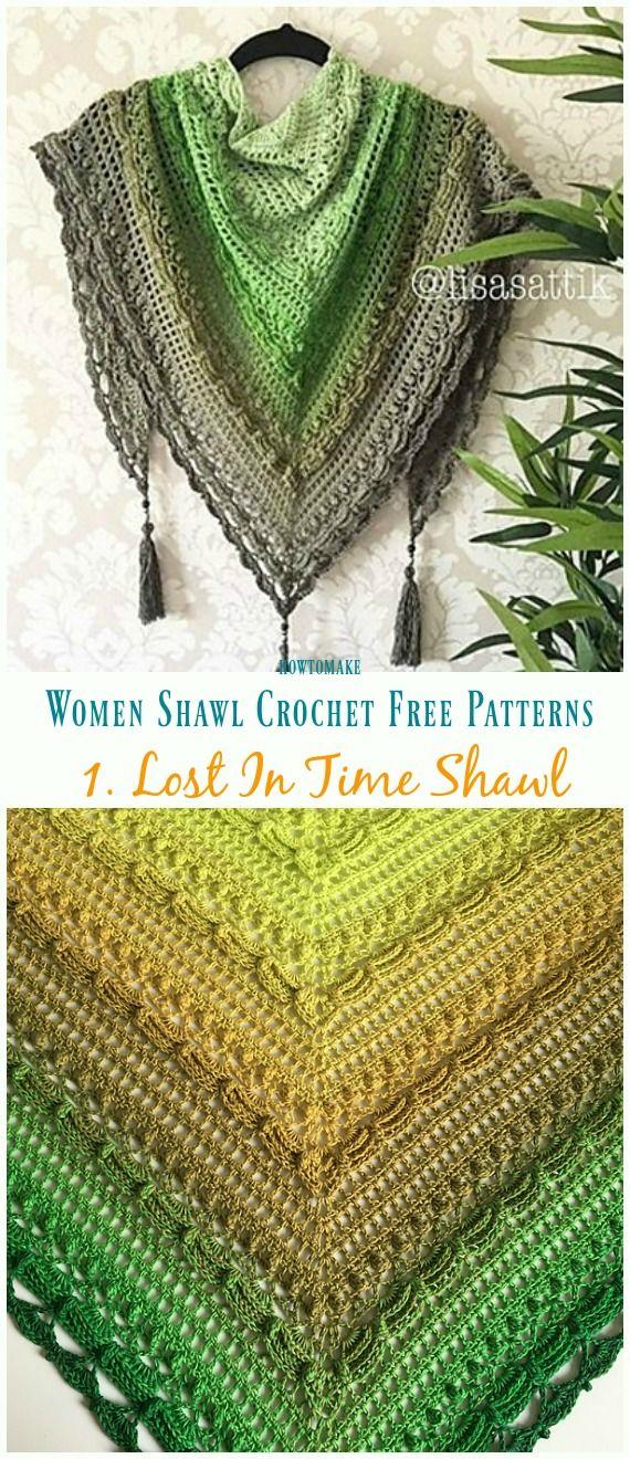 Lost In Time Shawl Crochet Free Pattern - Trendy Women Shawl ...