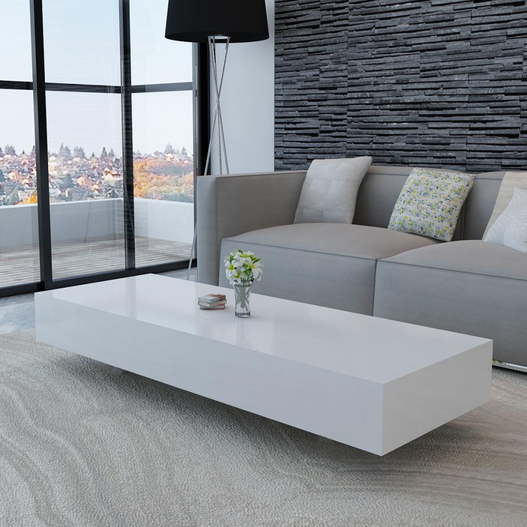VidaXL - Hoogglans salontafel 115 cm (wit) | Interieur | Pinterest ...