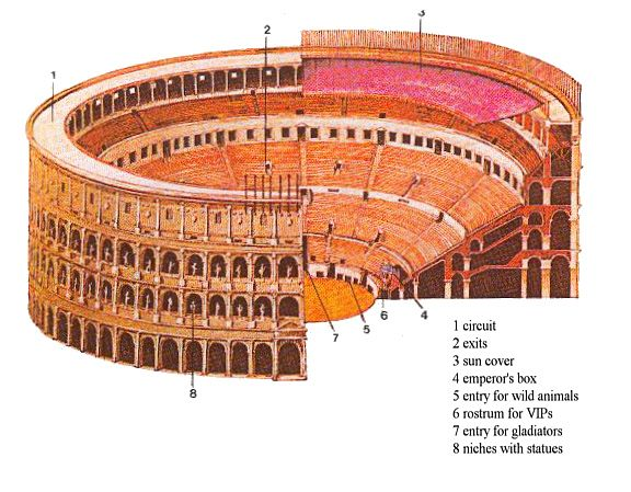 Amphitheatrum Flavium Reconstruction Drawing Of The