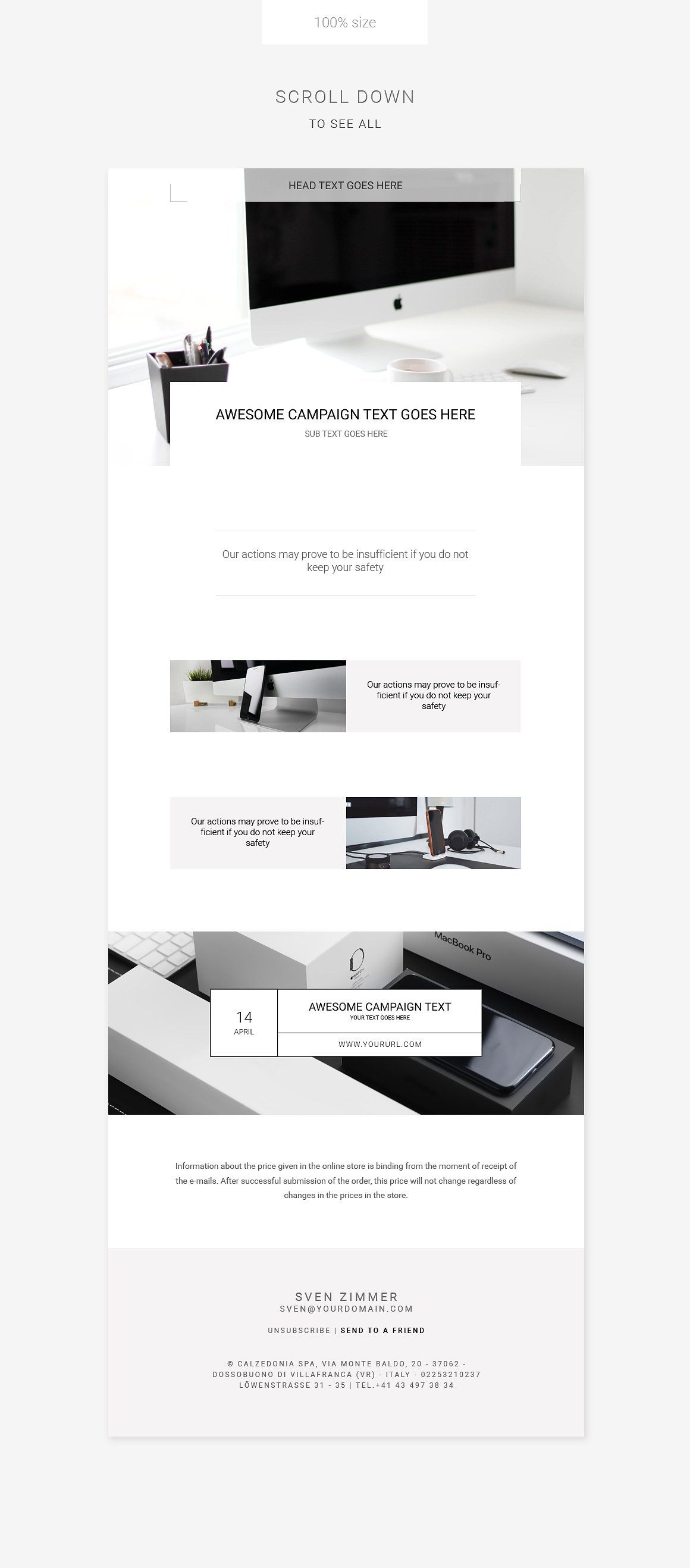 E Newsletter Template Can Be Use For Any Kind Of Business Like Special Offer Promote Your Busine Creative Email Templates Newsletter Templates Email Templates