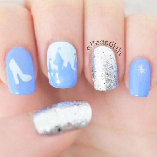 Cinderella Nails Cinderella Nails Quinceanera Nails Disney Nails