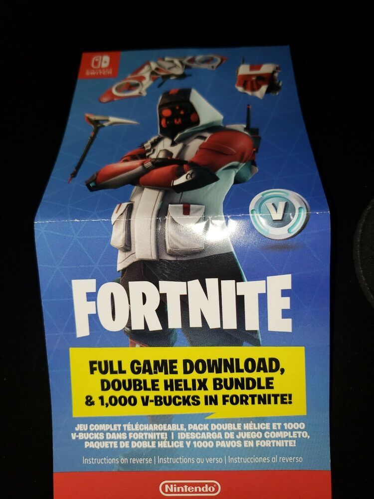 Nintendo Switch Double Helix Fortnite Skin 1000 V Bucks No Console