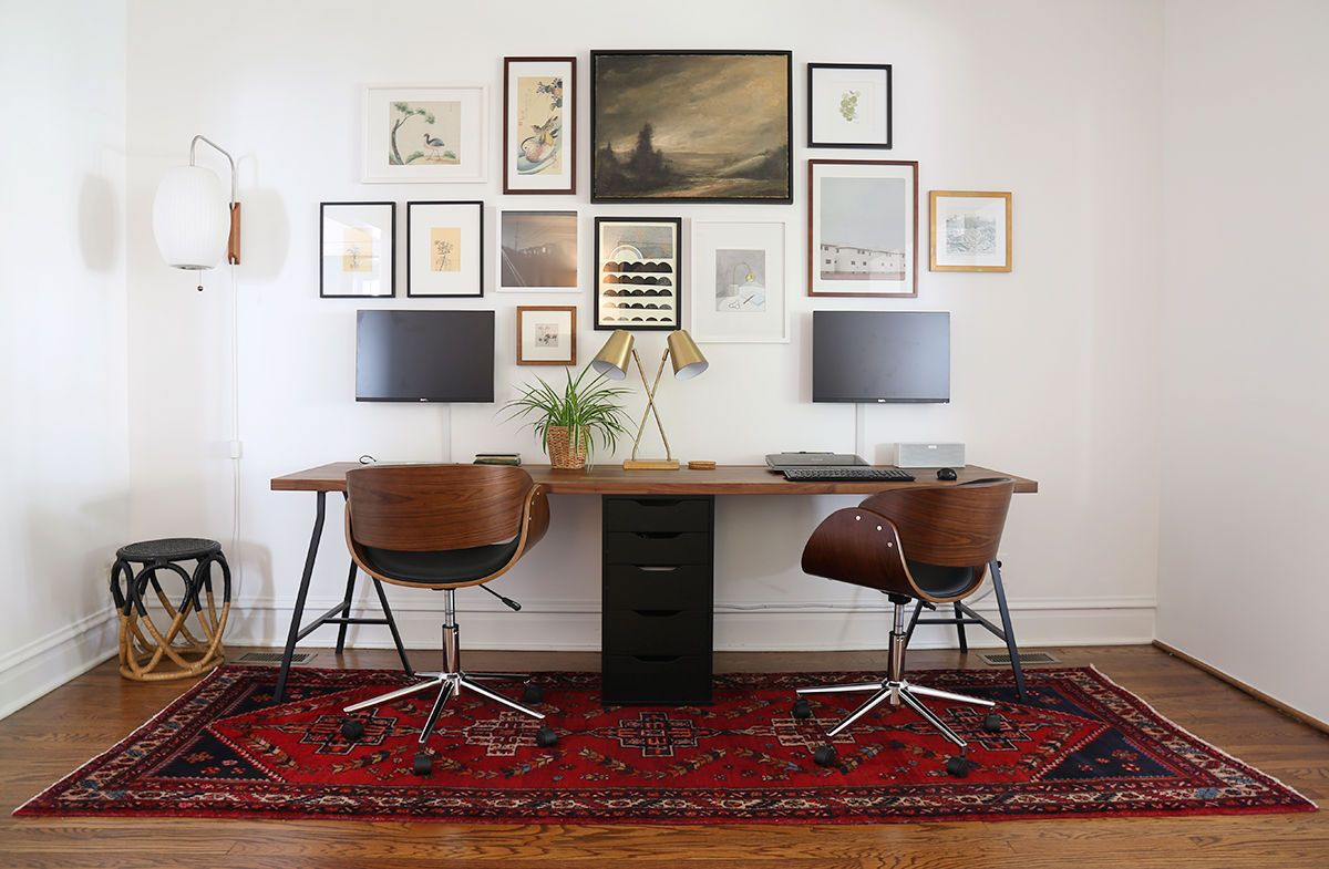 36 Inspirational Home Office Workspaces That Feature 2 Person Desks Ikea Home Office Home Office Furniture Ikea Office Desk 2 person desk for home office