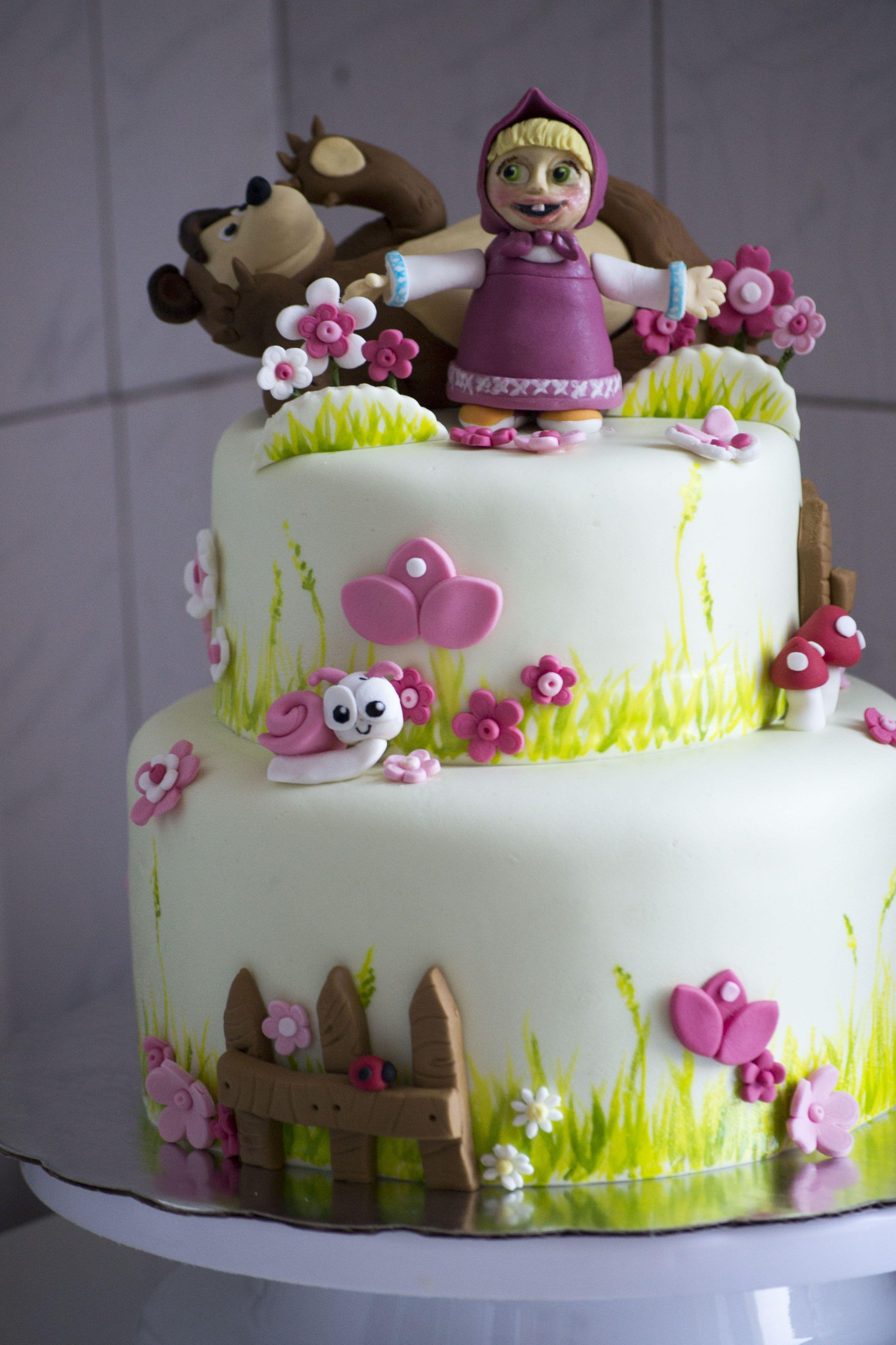 Masha And The Bear Birthday Cake Visit My Facebook Page At Https - Bear birthday cake