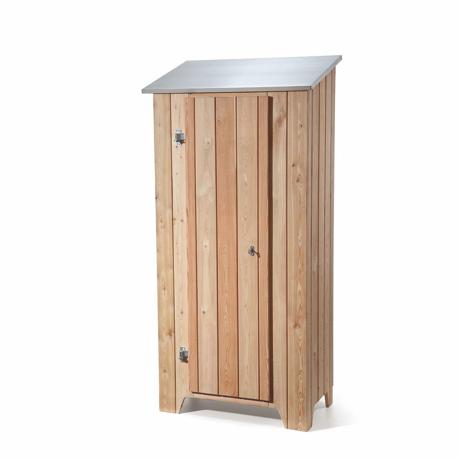 Gartenschrank Lärchenholz