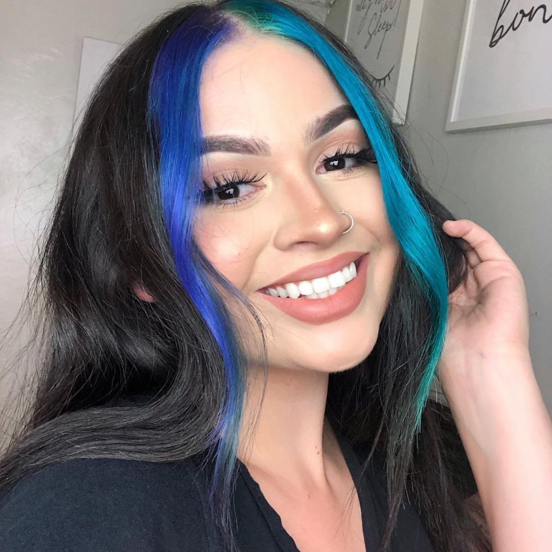 Blue Front Hair Dyed