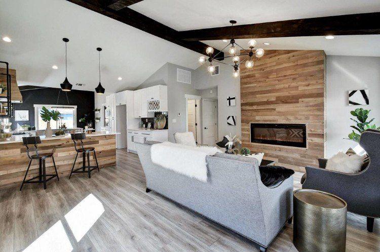 Lambris bois - une tendance chic et urbaine au sein d\u0027une maison moderne