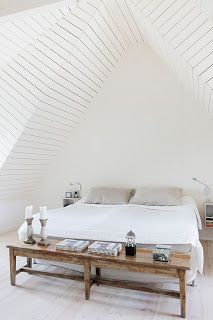 Temples of sleep. Rustically modern attic space.