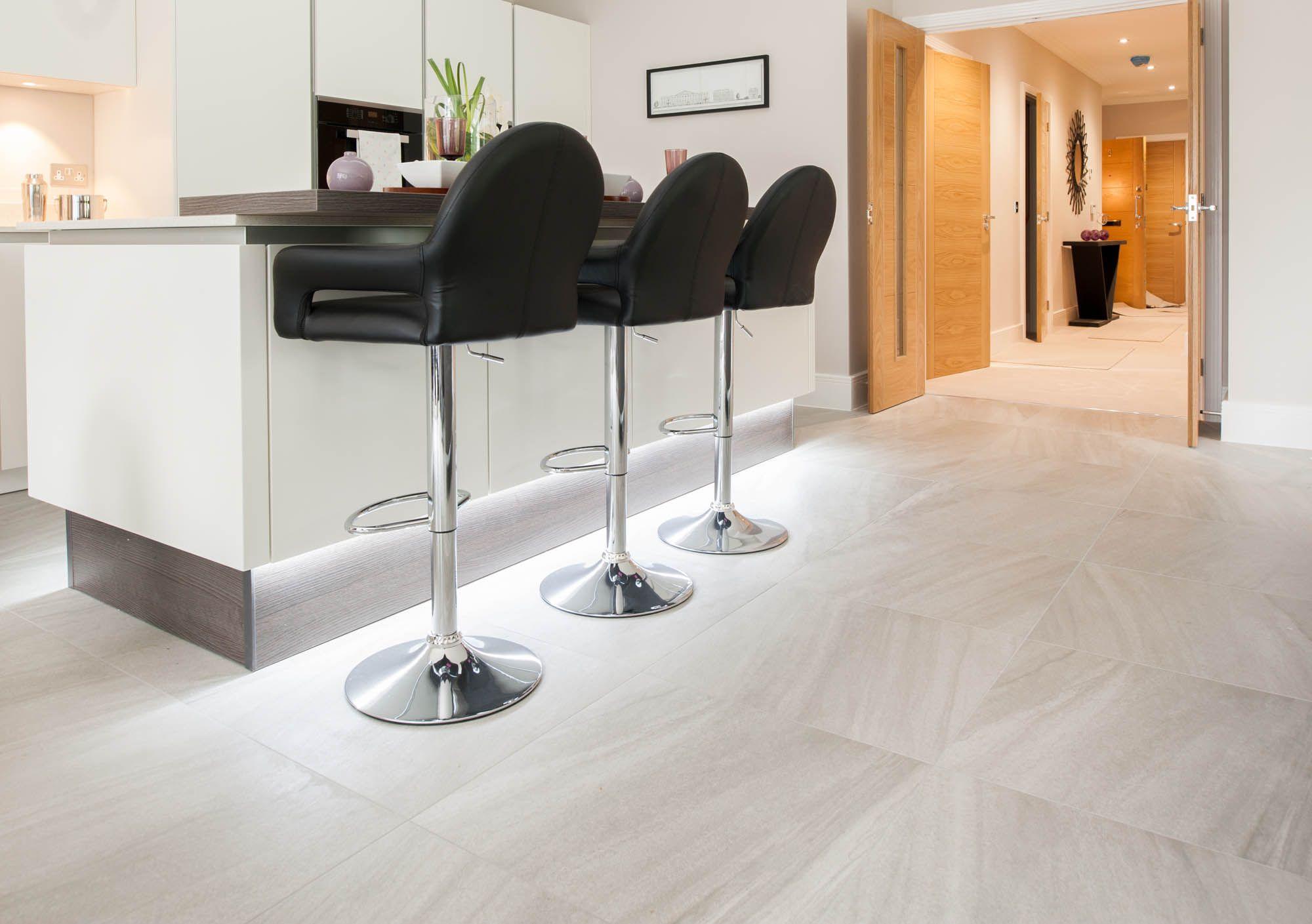 Floor Tiles: Stockholm Lysgrau 60 x 60 cm. This grey stone effect ...
