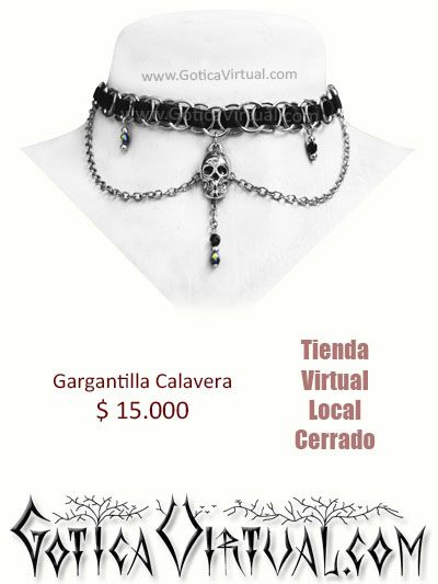 9186d5766506 collar calavera gargantilla dama online tienda envios soacha medellin  cucuta pasto bogota medellin manizales