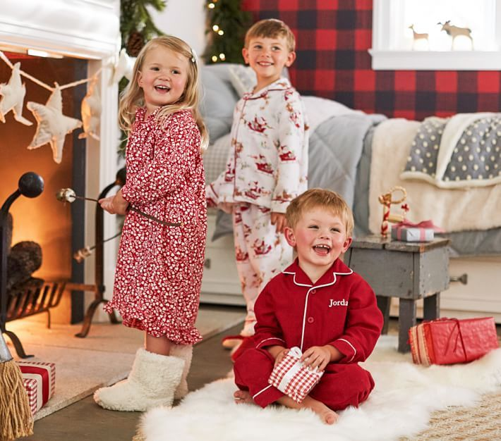 Red Flannel Pajama Christmas Pajamas Flannel Pajamas
