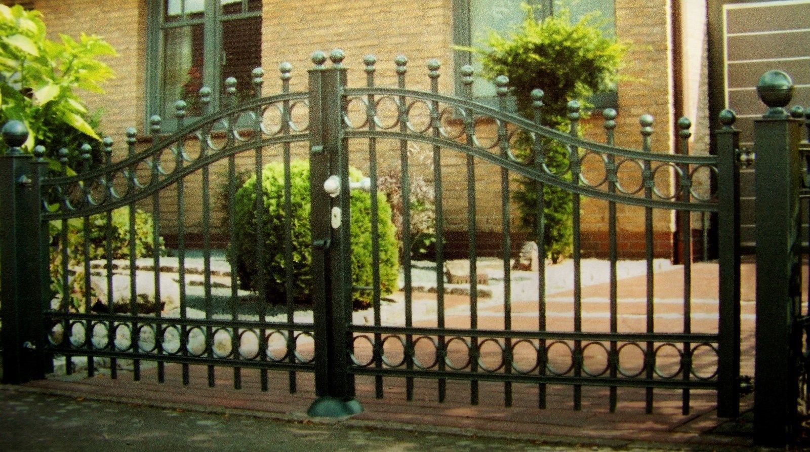 Garden Gates 139948 Custom Driveway Gate 12 Foot Wide 48 High Double Swing Buy It Now Only 1095 On Ebay Garden Garden Gates Double Swing Driveway Gate