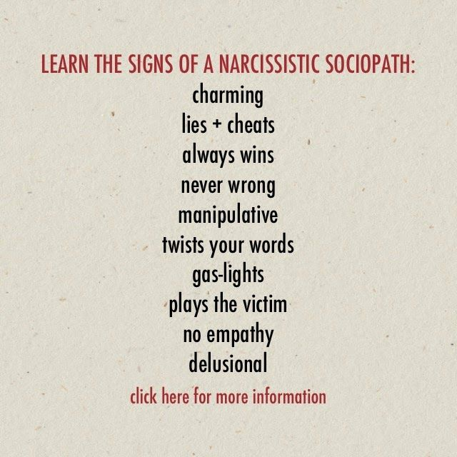 Sociopath signs dating loser
