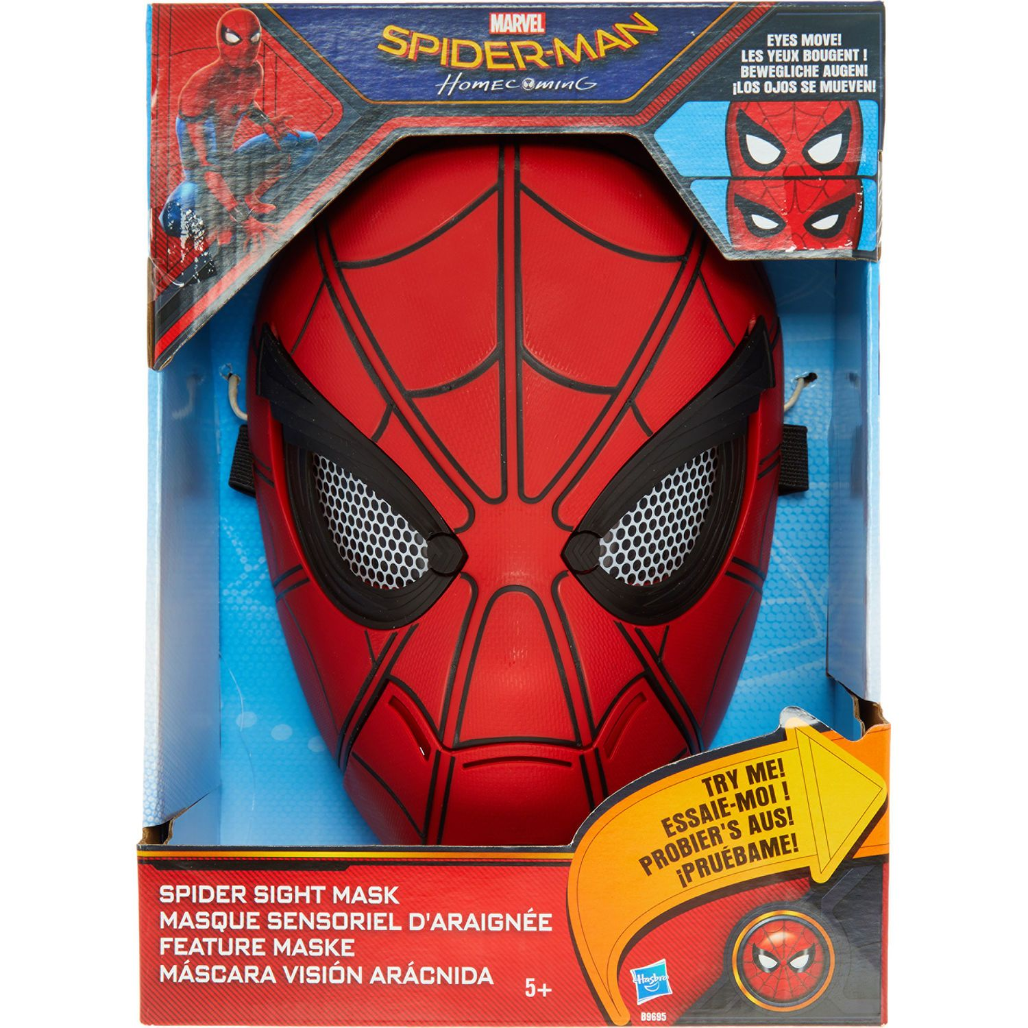 ~ EYES MOVE! NEW HASBRO MARVEL SPIDER-MAN HOMECOMING SPIDER SIGHT COSPLAY MASK
