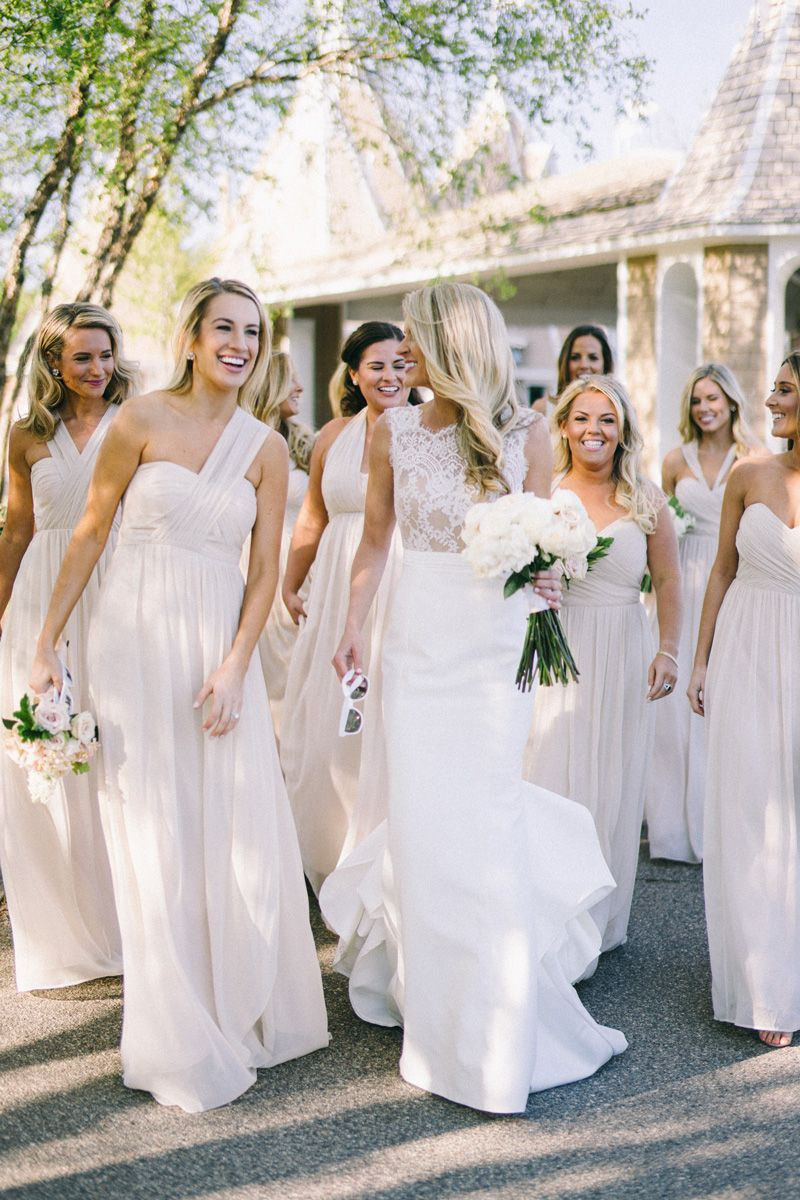 Love the neutral bridesmaid dresses dreamwedding pinterest love the neutral bridesmaid dresses ombrellifo Gallery