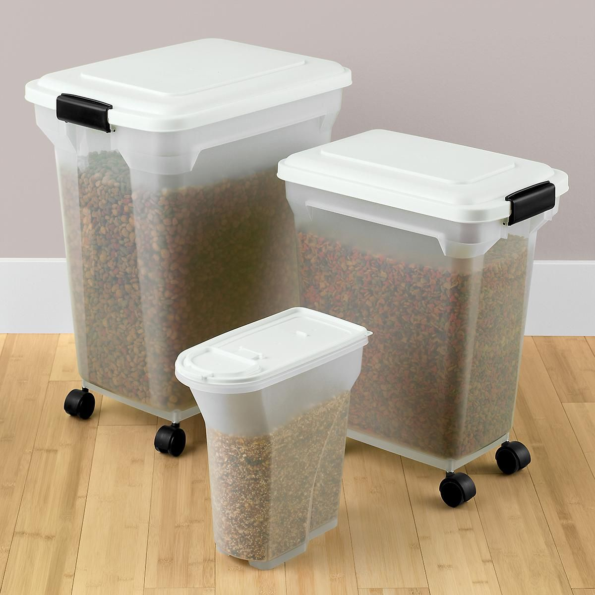 iris pet food containers   container store