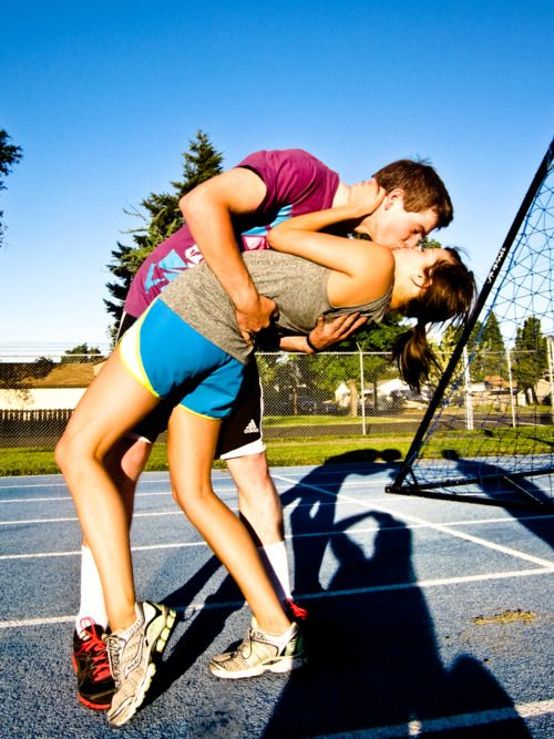 a couple who works out together, stays together.....the day I find a boy who will really run with me...it will be awesome.