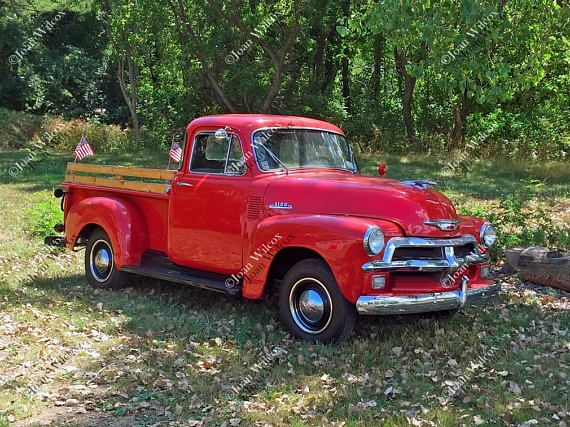 Old Red 50s Chevy Truck 54 Chevrolet Vintage Antique -