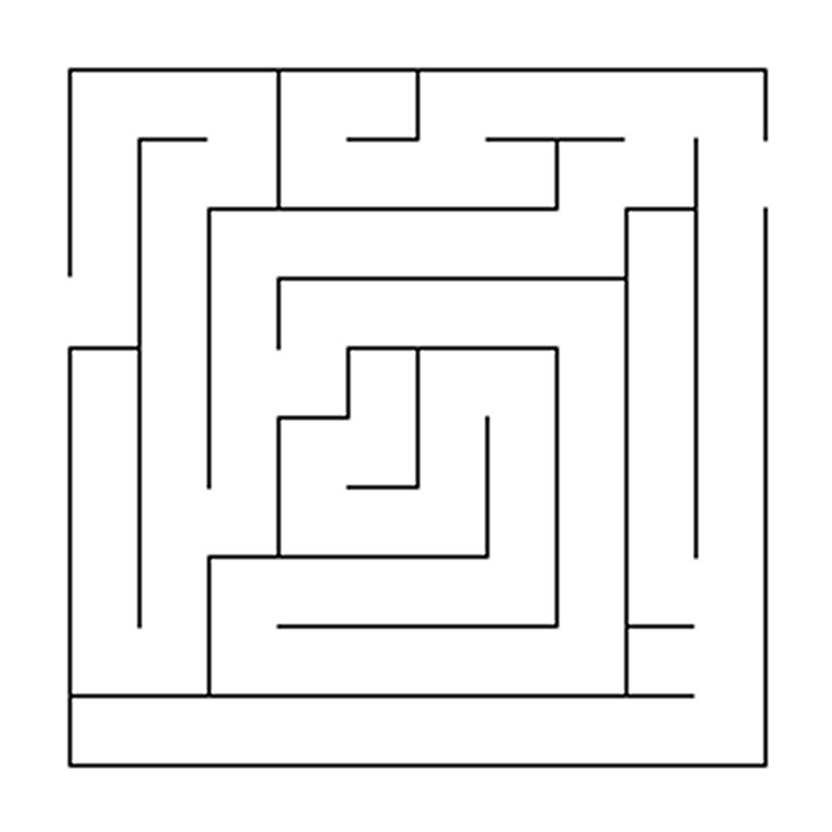 Pin by Anni Sirkka on Värityskuvia / Häät | Maze design ... Simple Square Maze
