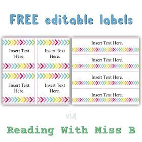 Sublime Dream: Friday Freebie: Editable Labels