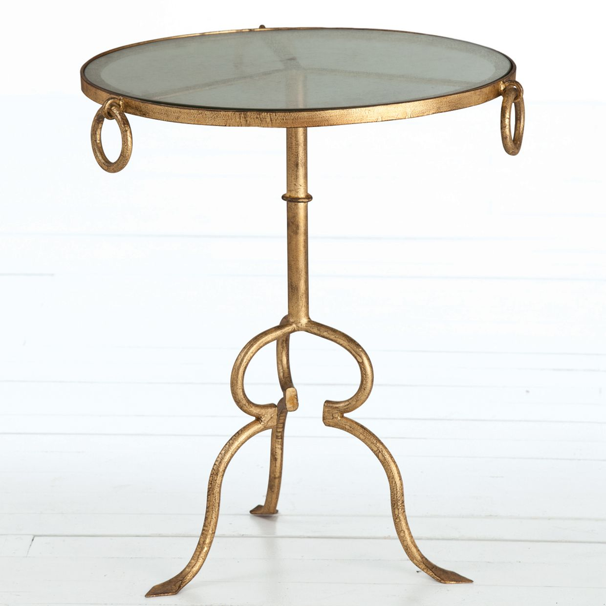 Arteriors Raul Gold Side Table Zinc Door Gold Side Table Table Gold Leaf Furniture