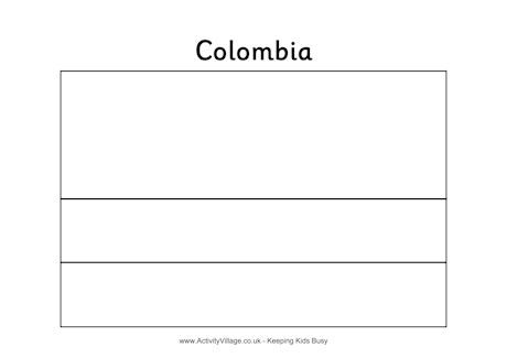 Colombia Colouring Flag Flags Of The World For Oliver To Color