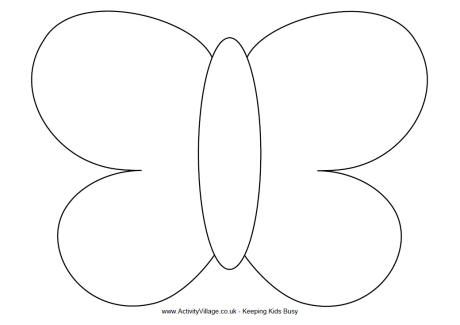 Butterfly outline easy. Template google search abc