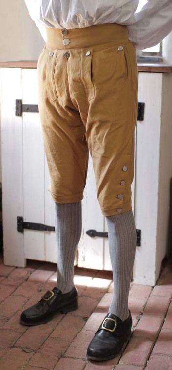 Fall Front Knee Breeches in Linen LP-128, Jas  Townsend and Son, Inc