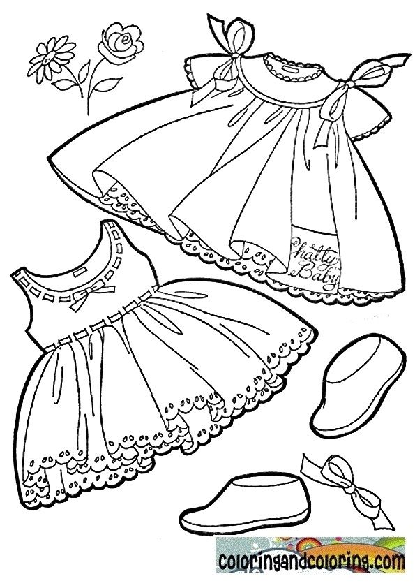 Baby Clothes Coloring Coloring And Coloring Pages Coloring Pages Baby Prints Embroidery Patterns