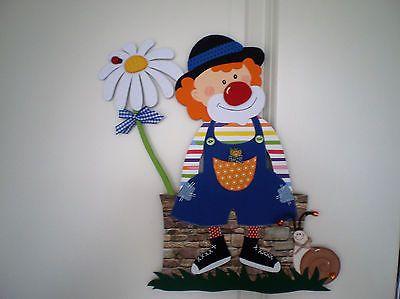 Fensterbild Clown Auf Mauer Fasching Karneval Dekoration
