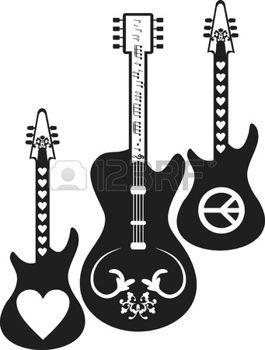Dibujos De Guitarras Electricas Con Alas Buscar Con Google Rock
