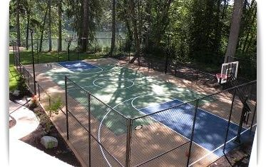 Tennis Court Construction Sports Equipment Portland Oregon Basketball Court Backyard Outdoor Basketball Court Backyard Basketball