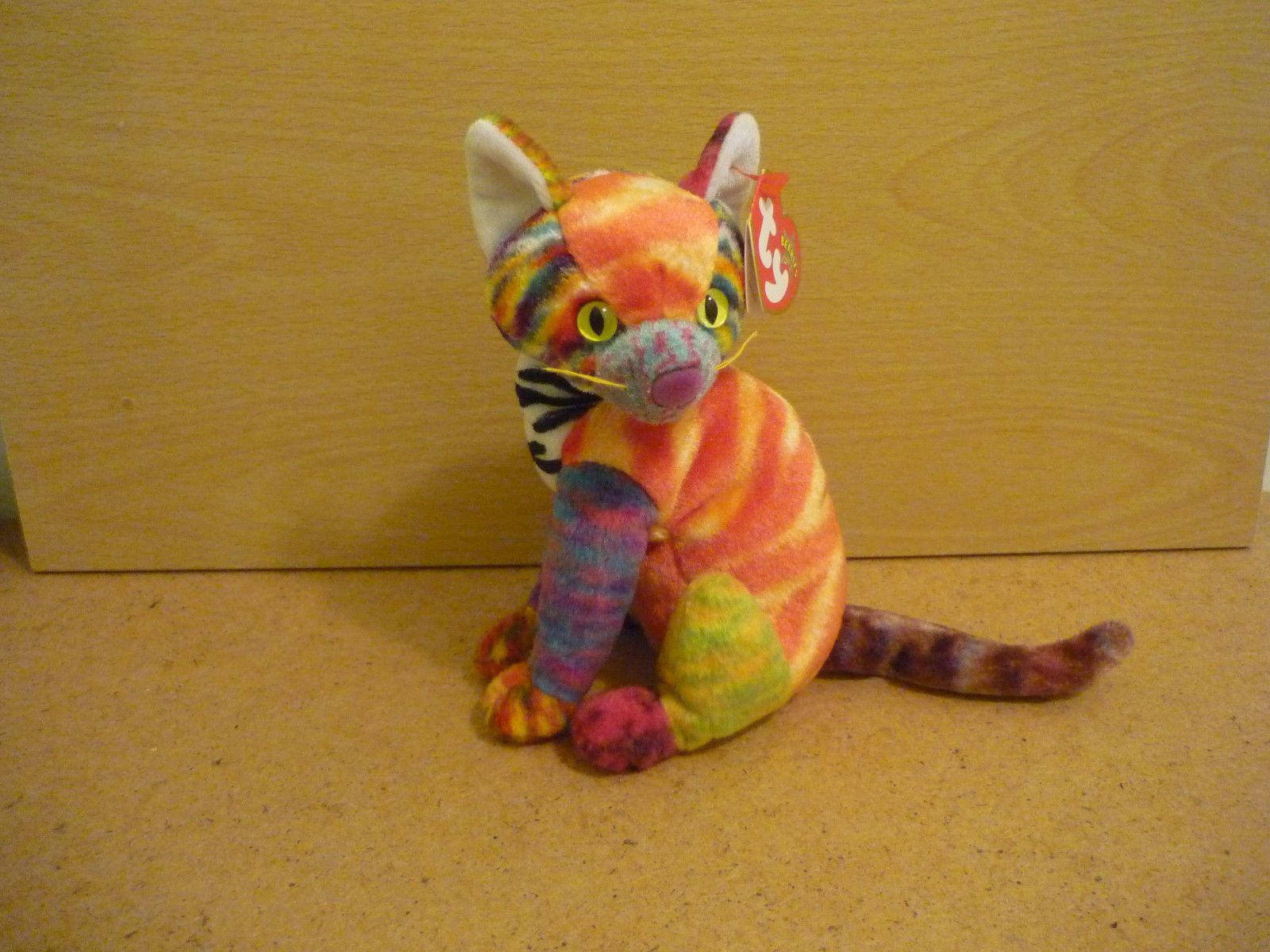 48e82b4b635 Kaleidoscope the Cat Ty Beanie Babies soft beanie toy