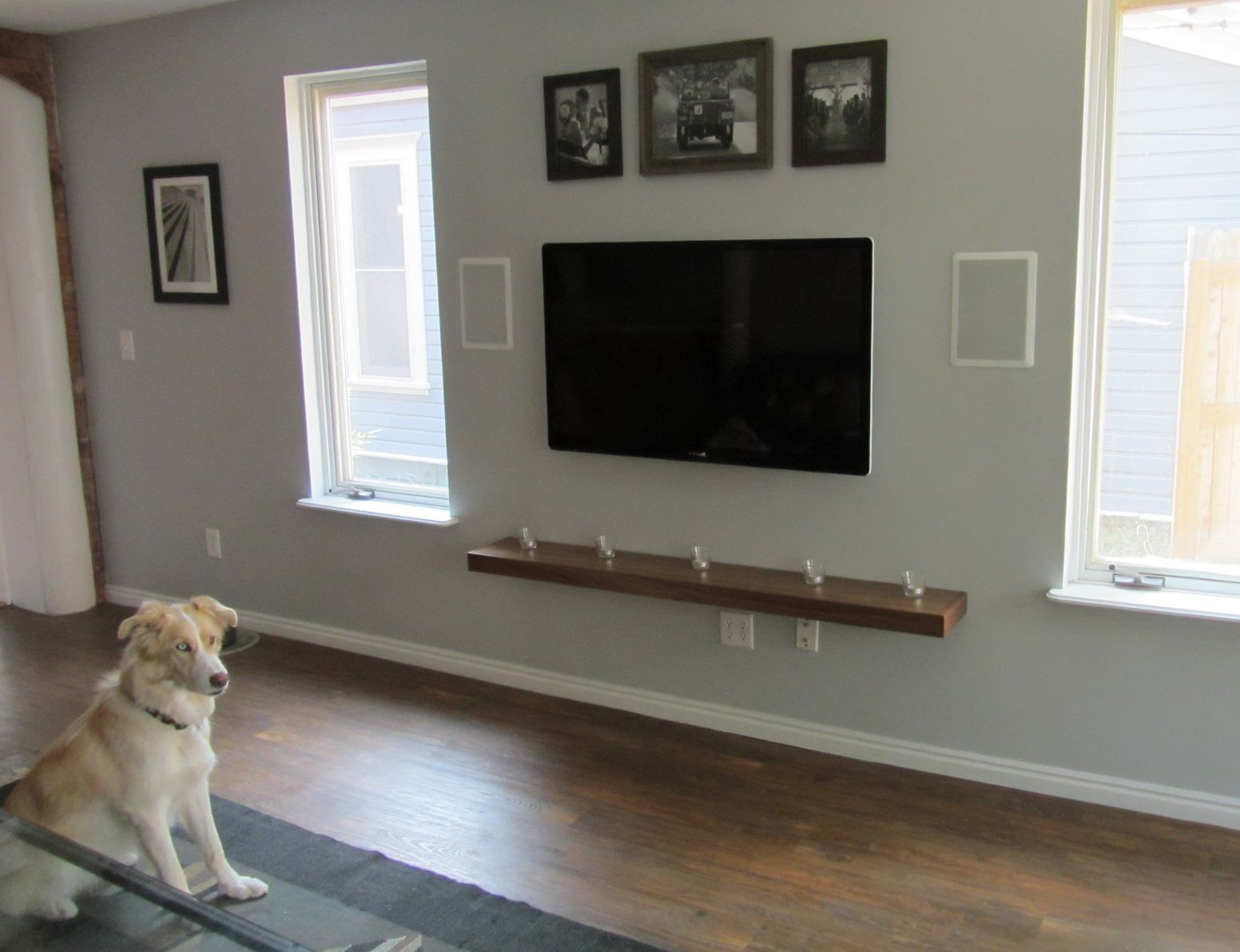 Wall Mounted Shelves For Electronics Wall Mount Tv Shelf Wall