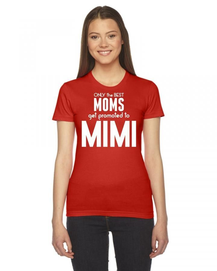 only the best moms get promoted to mimi 3 Ladies Fitted T-Shirt